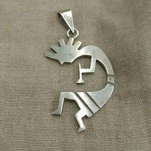 Large Sterling Kokopelli pendant